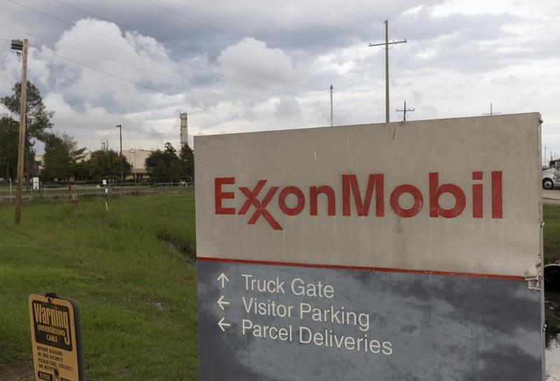 A sign is seen at the entrance of the Exxonmobil Port Allen Lubricants Plant in Port Allen, Louisiana, November 6, 2015. Lee Celano