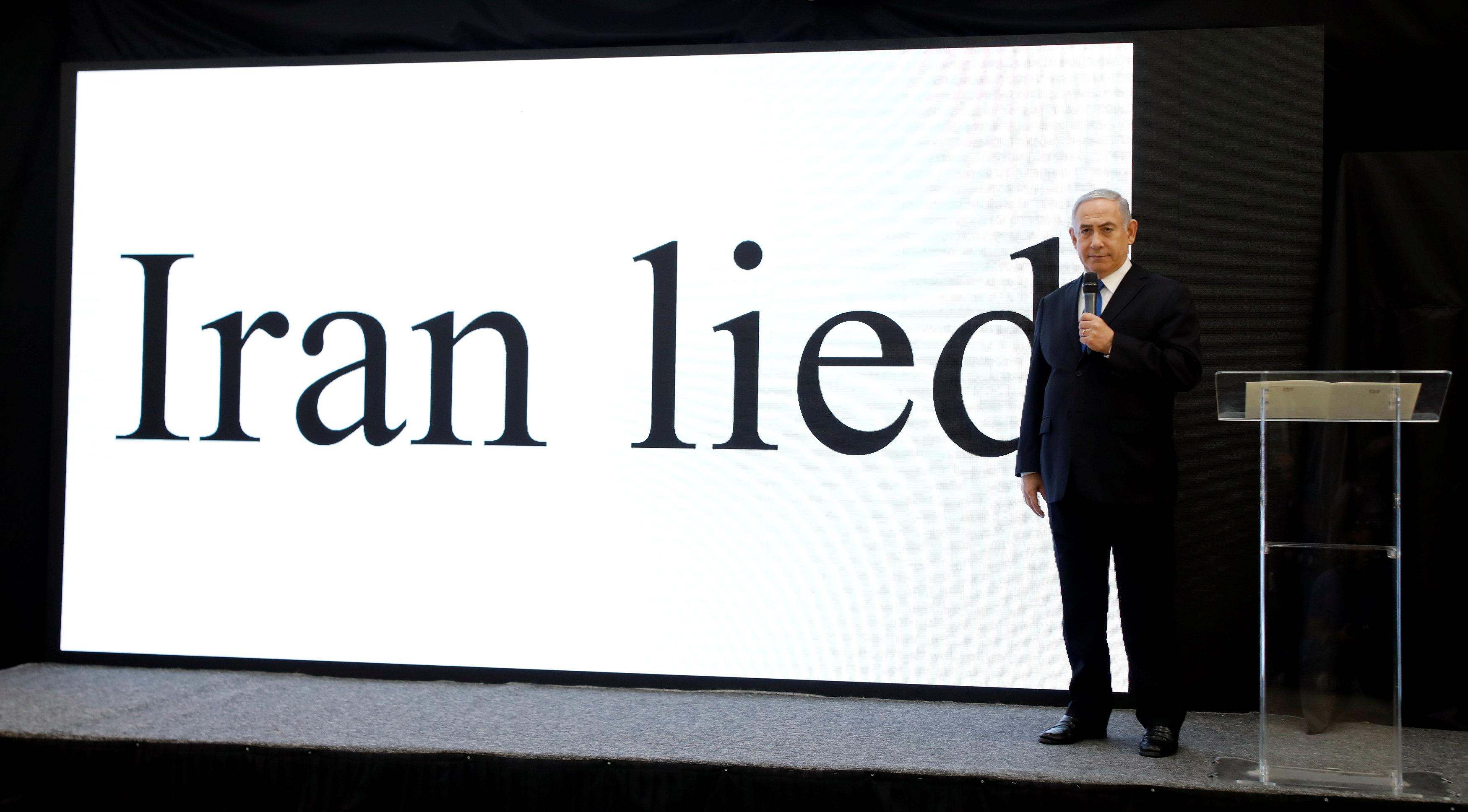 Israel says Iran lied on nuclear arms, pressures U.S. to scrap deal