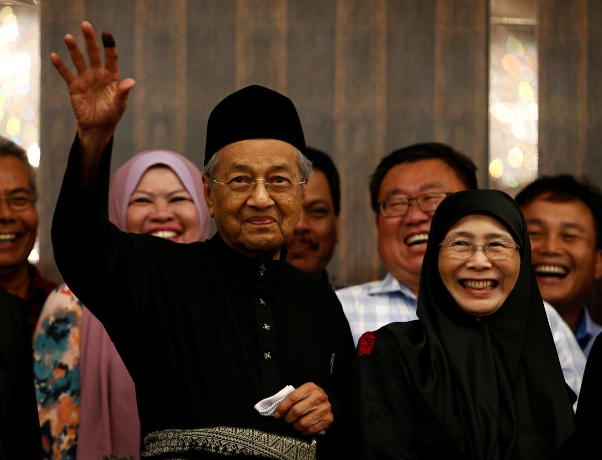 Image result for Mahathir Mohamad sworn in as Malaysia's seventh Prime Minister