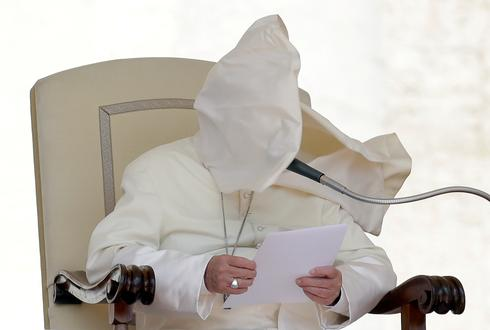Pope in the wind