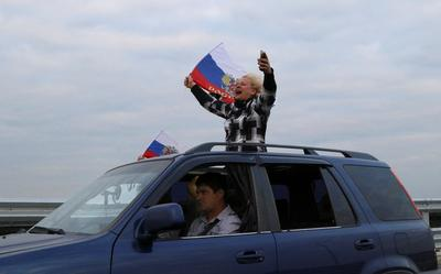 Russia's bridge to Crimea opens