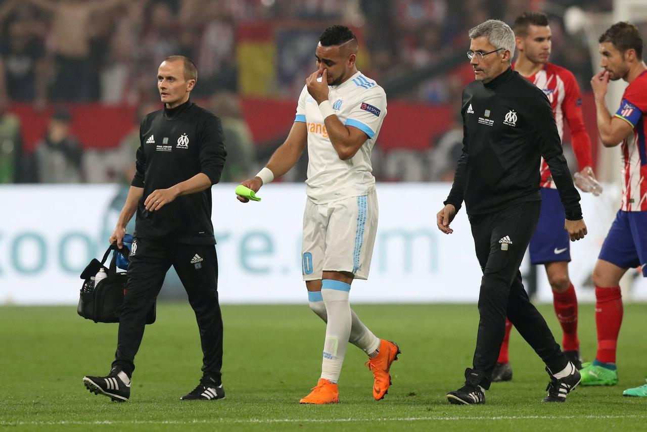 Payet lascia il campo nella finale di Europa League tra Atletico Madrid e Marsiglia | numerosette.eu
