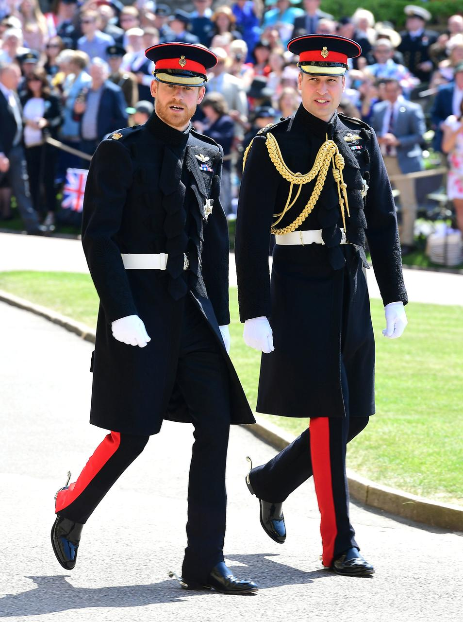 Prince Harry And The Duke Of Cambridge Arrive At St George S Chapel Windsor Castle For Wedding Meghan Markle In Britain
