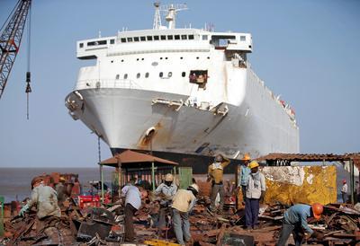 The ship graveyard in Gujarat