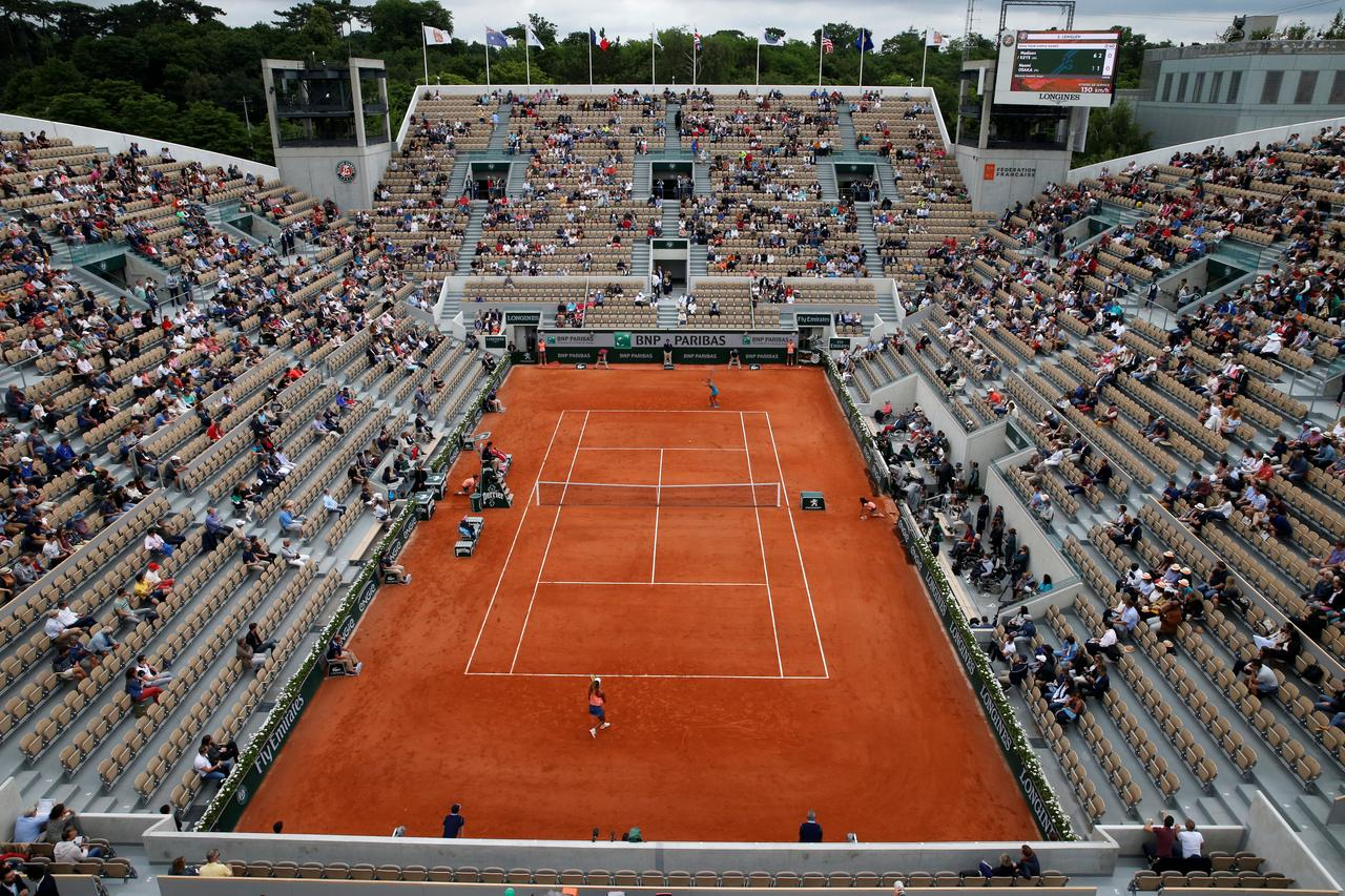c1a71922 Tennis - French Open - Roland Garros, Paris, France - June 1, 2018 General  view of empty seats in the stands during the third round match between  Madison ...