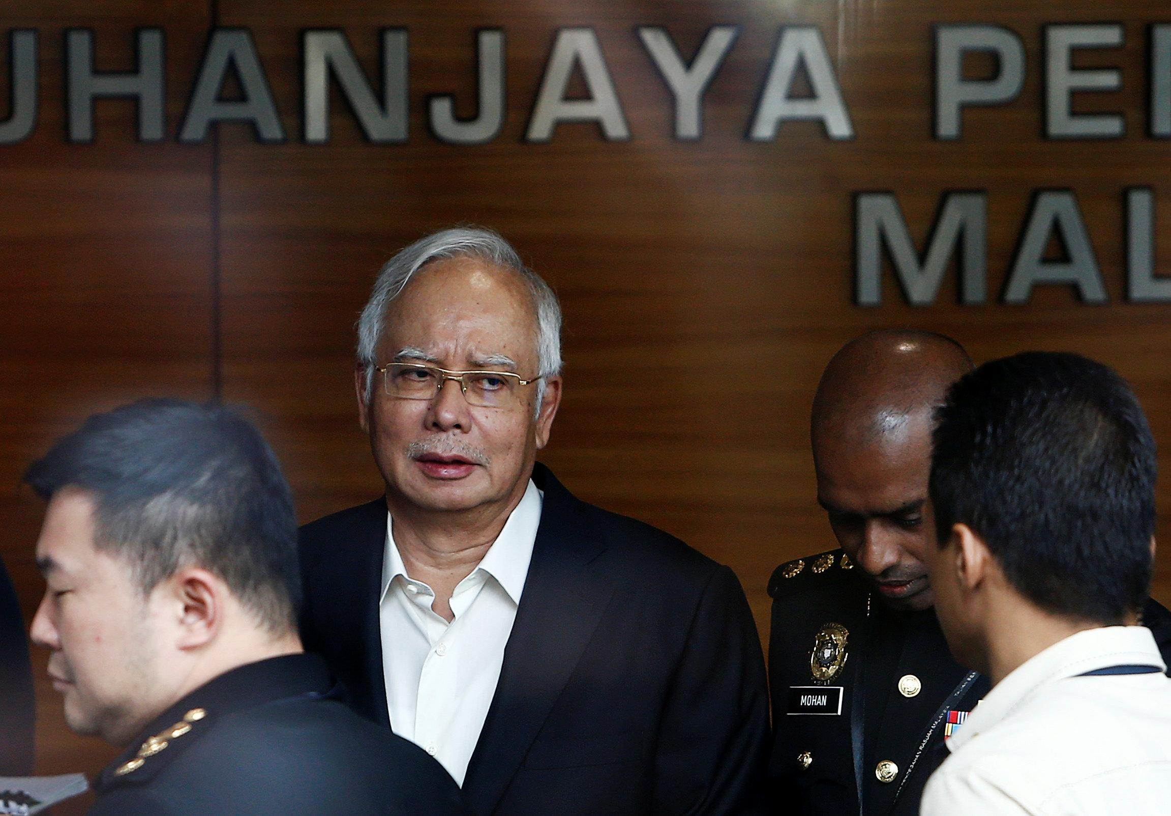 File Photo Malaysia S Former Prime Minister Najib Razak Arrives To Give A Statement The Malaysian Anti Corruption Commission Macc In Putrajaya