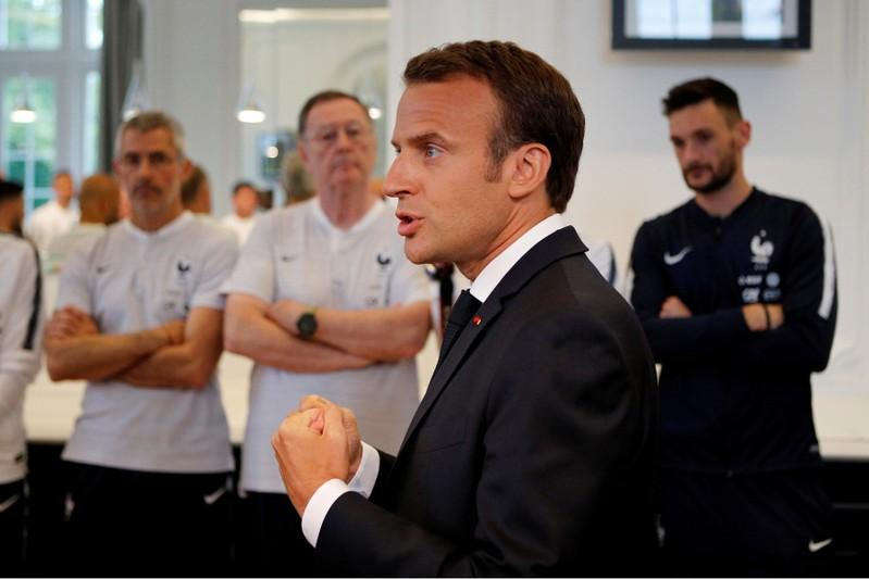 France's Macron says he was a soccer player who 'would not let go'