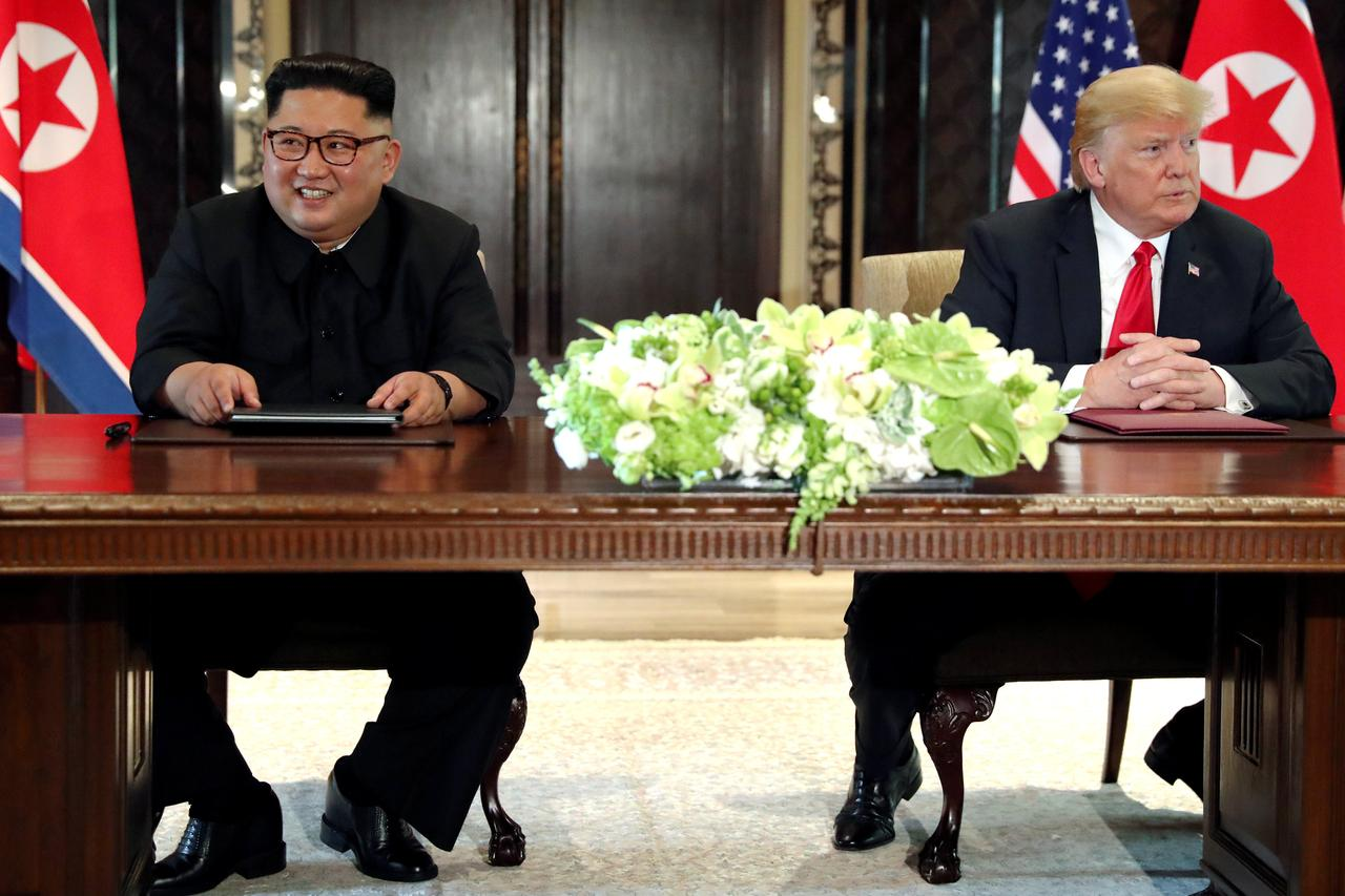 Image result for Trump quip about North Korea's Kim sparks outcry on social media
