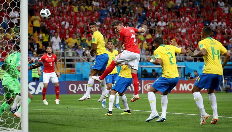 655b5417d Switzerland s Steven Zuber scores their first goal. REUTERS Marko Djurica