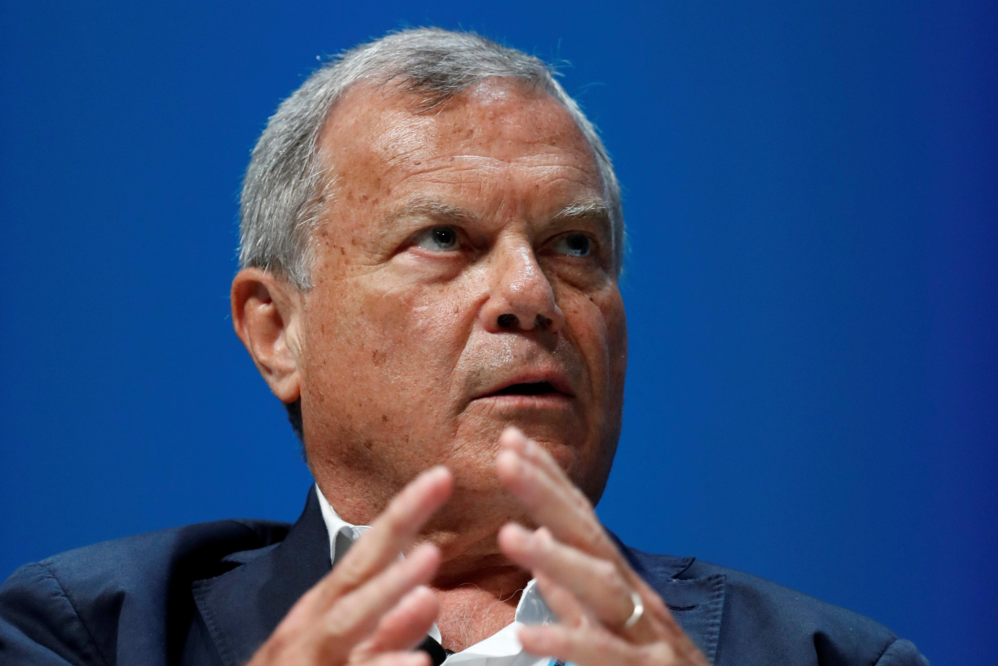 Sir Martin Sorrell attends a conference at the Cannes Lions International Festival of Creativity, in Cannes, France, June 22, 2018.  Eric Gaillard