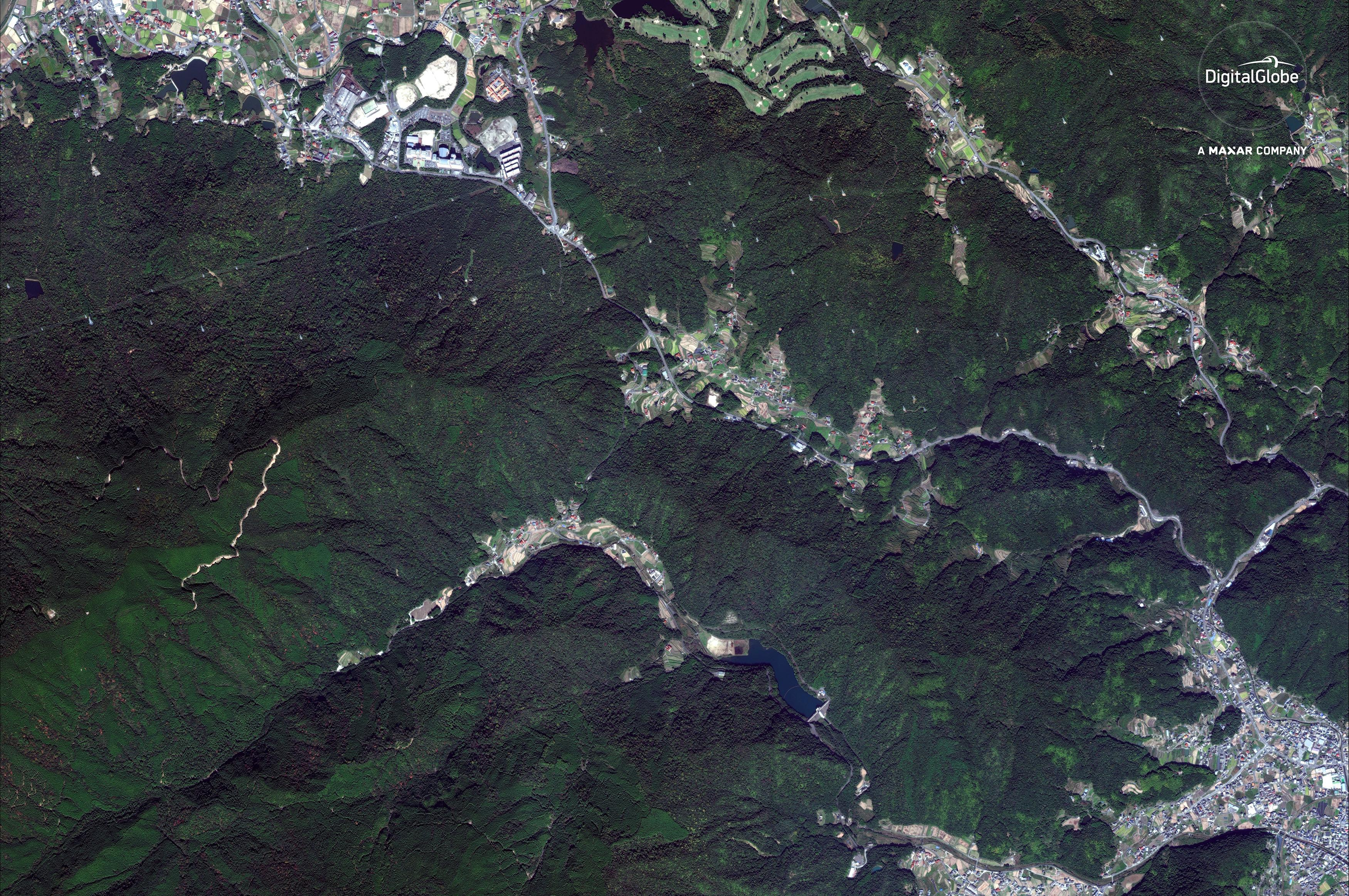 A satellite image of