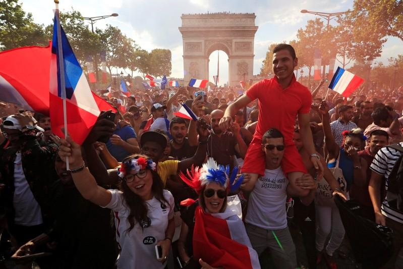 From Paris to Moscow, France fans go wild after thrilling World Cup...