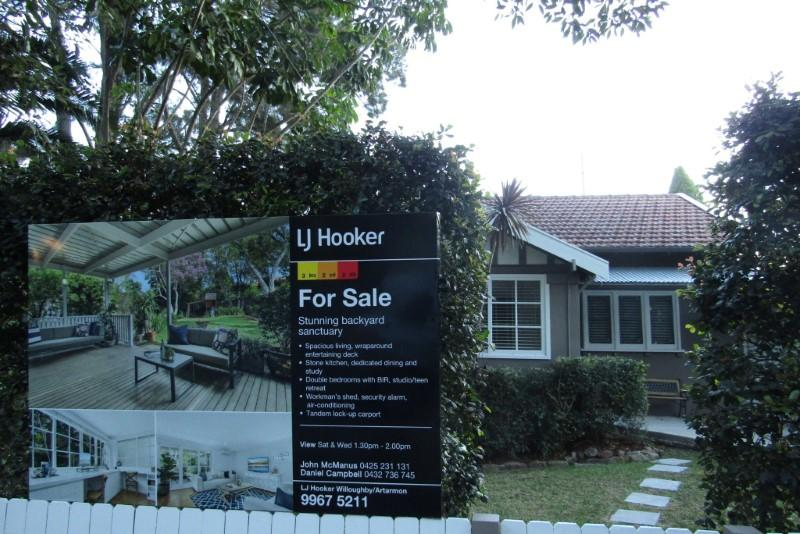 A 3-bedroom home in SydneyÕs northern suburb of Chatswood is shown for sale, after an auction was abandoned earlier in June, on July 9, 2018.  Swati Pandey