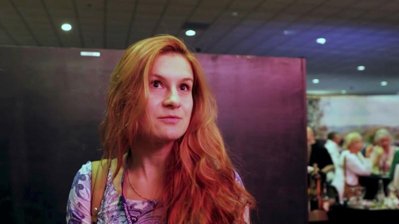 Accused Russian agent Maria Butina speaks to camera at 2015 FreedomFest conference in Las Vegas, Nevada, U.S., July 11, 2015 in this still image taken from a social media video obtained July 19, 2018. FreedomFest/via