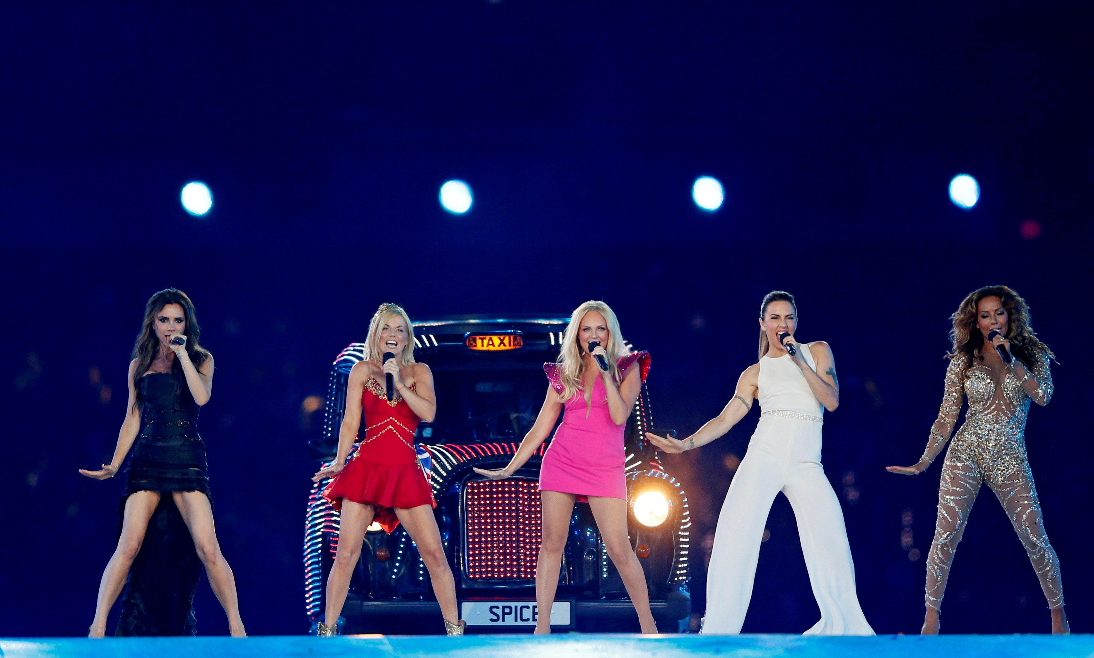 The Spice Girls perform during the closing ceremony of the London 2012 Olympic Games at the Olympic Stadium, August 12, 2012. Stefan Wermuth