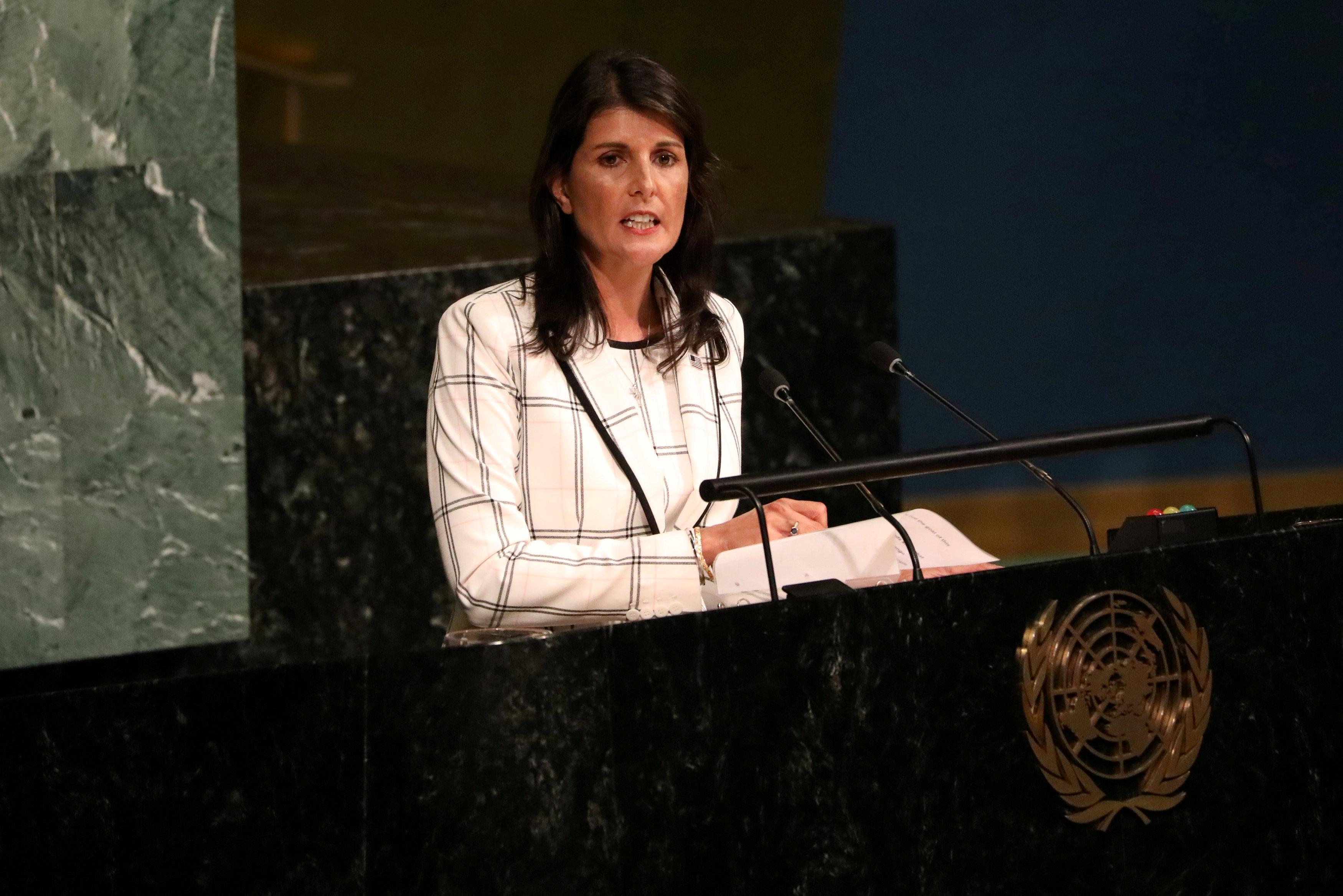 Trump's U.N. envoy: 'Every day I feel like I put body armor on'