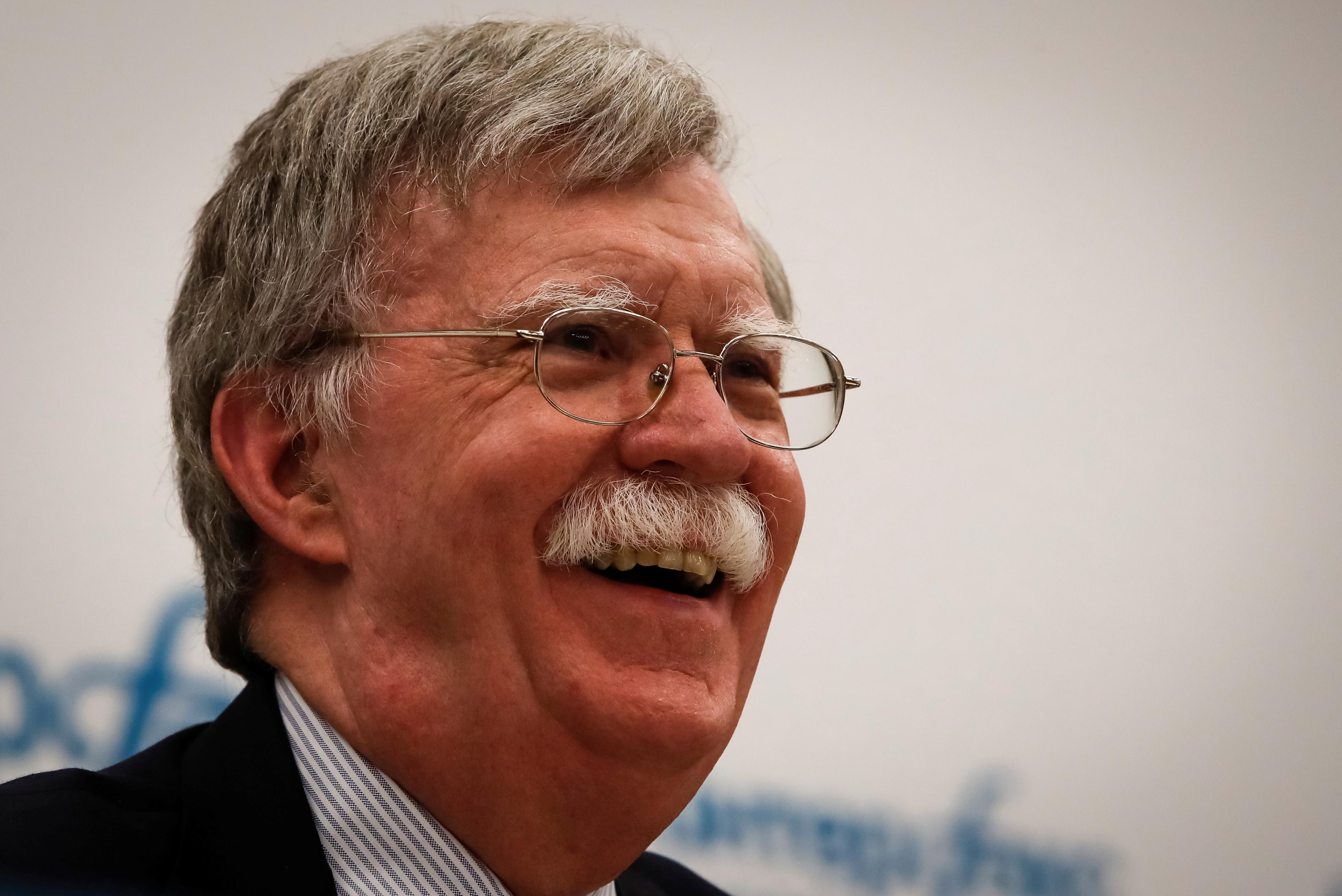 U.S. National Security Adviser John Bolton attends a news conference in Moscow, Russia June 27, 2018.  Sergei Karpukhin