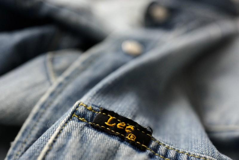 53636498 FILE PHOTO: The label of a denim shirt of U.S. company Lee is photographed  at a denim store in Frankfurt, Germany, March 20, 2016.