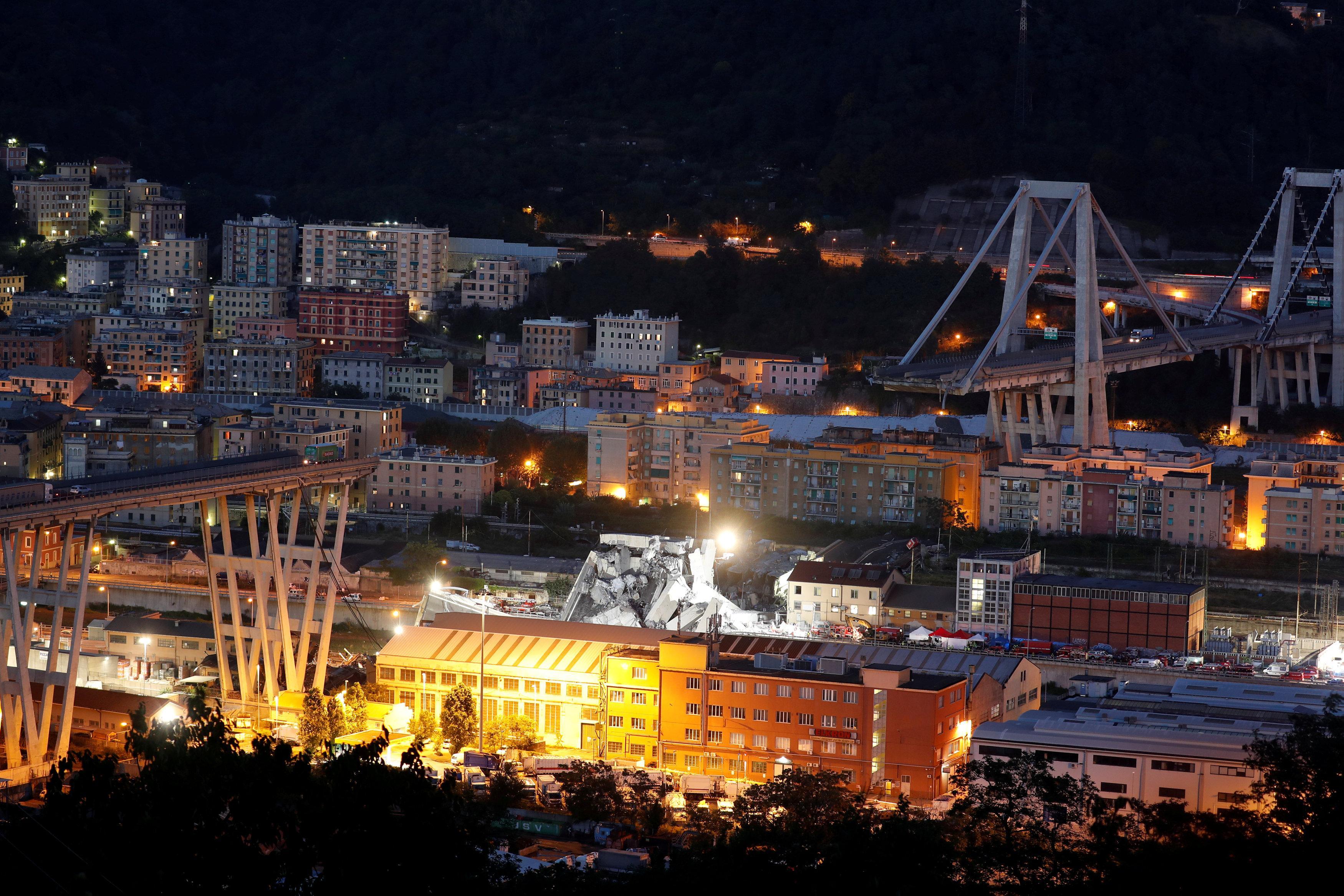 Operador de puente italiano colapsado dice que no hay señales tempranas de problemas