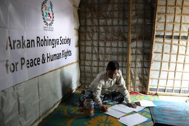 Mohib Bullah, a member of Arakan Rohingya Society for Peace and Human...