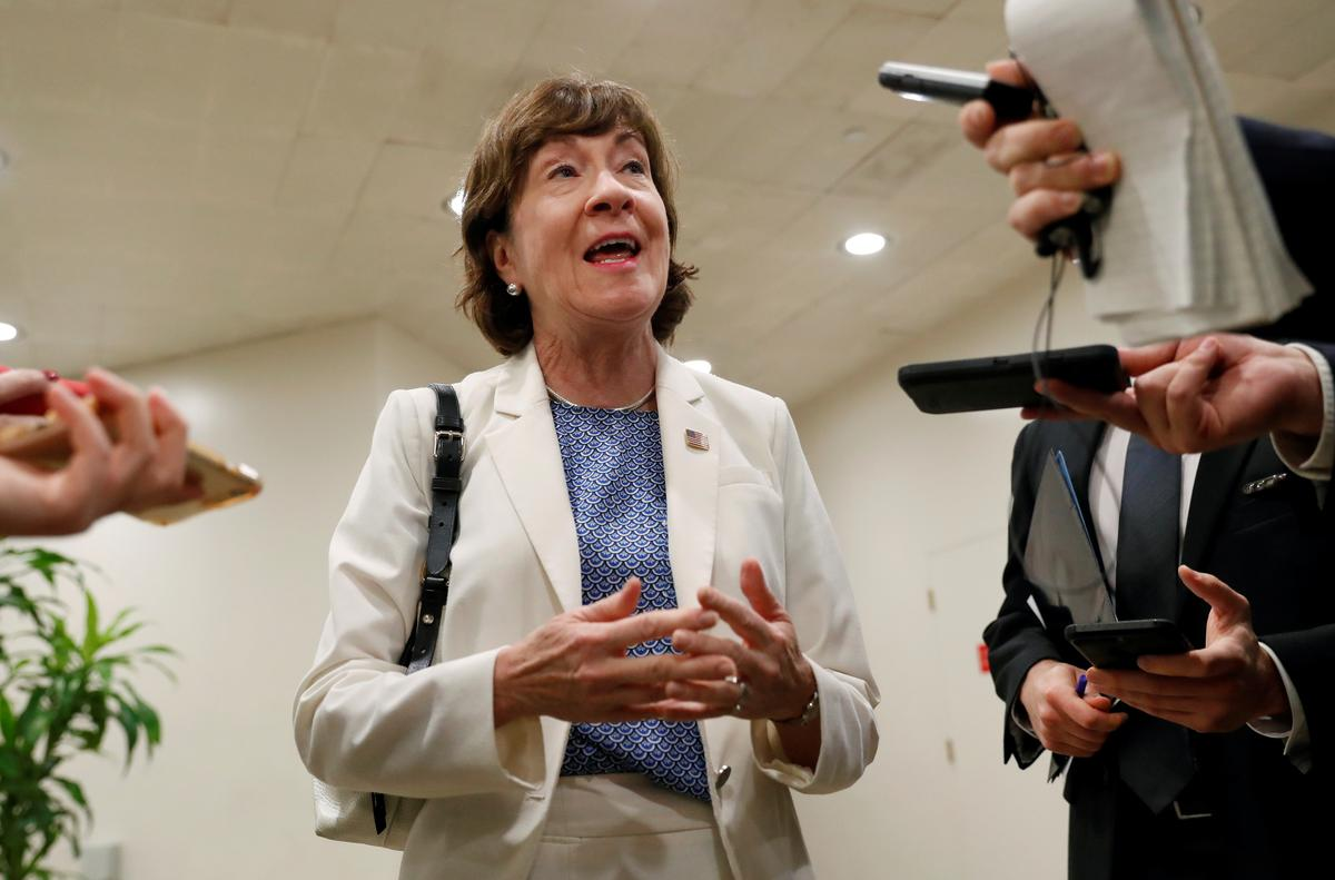 Senator Collins: Trump's court pick says Roe vs. Wade settled law