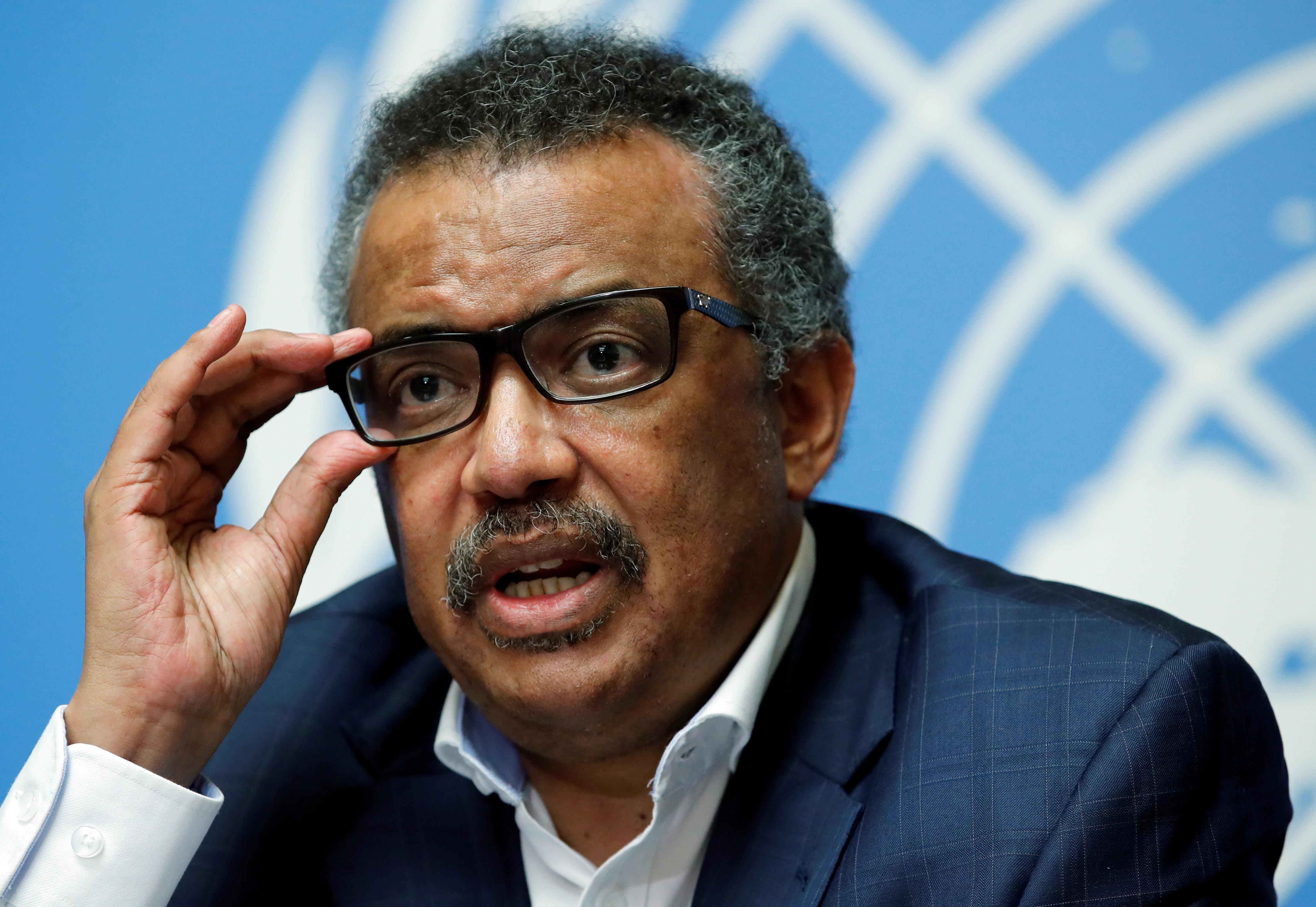 Director-General of the World Health Organization (WHO) Tedros Adhanom Ghebreyesus attends a news conference after an Emergency Committee meeting on the Ebola outbreak in the Democratic Republic of Congo at the United Nations in Geneva, Switzerland, August 14, 2018.  Denis Balibouse