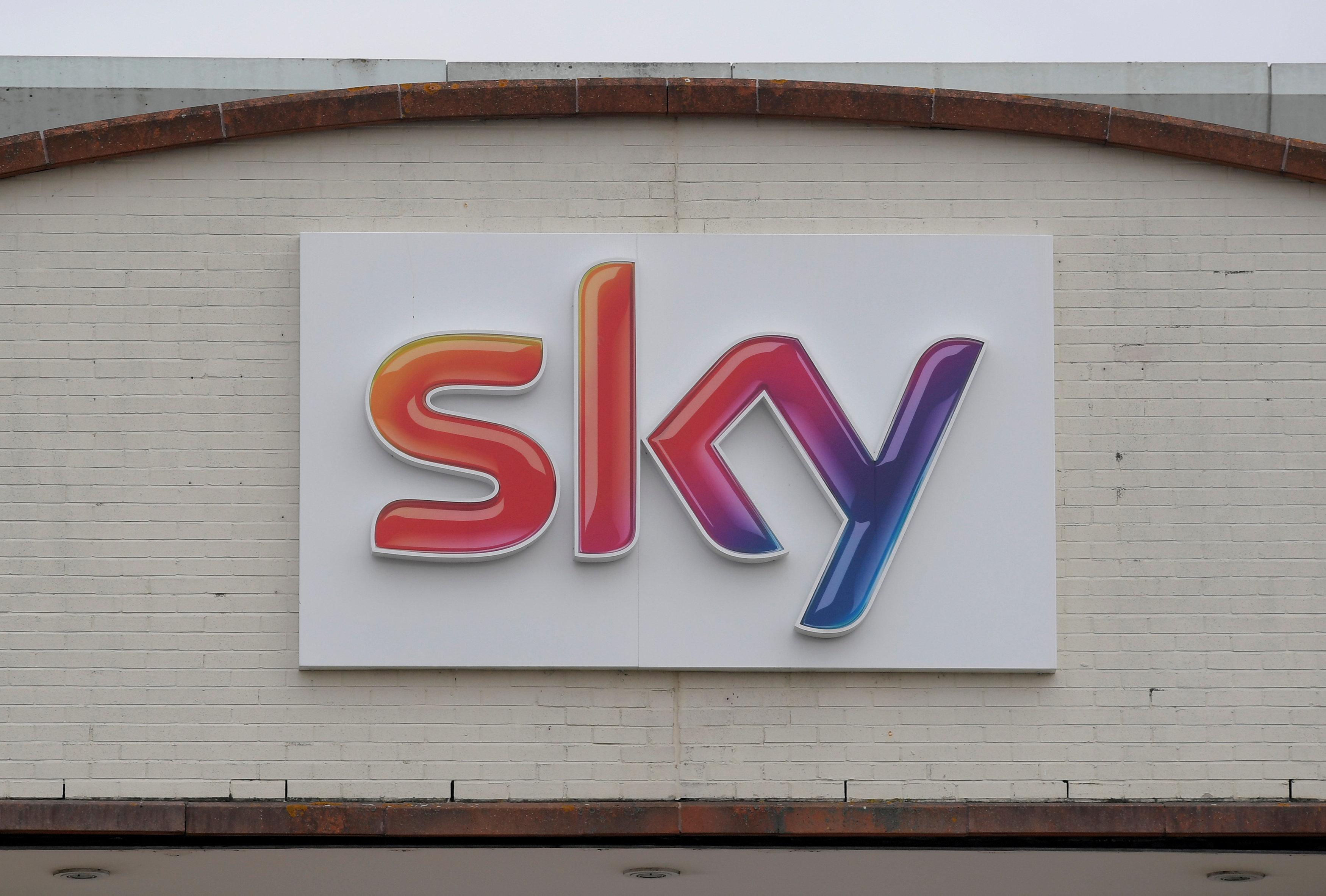 The Sky News logo is seen on the outside of offices and studios in west London, Britain June 29, 2017. Toby Melville