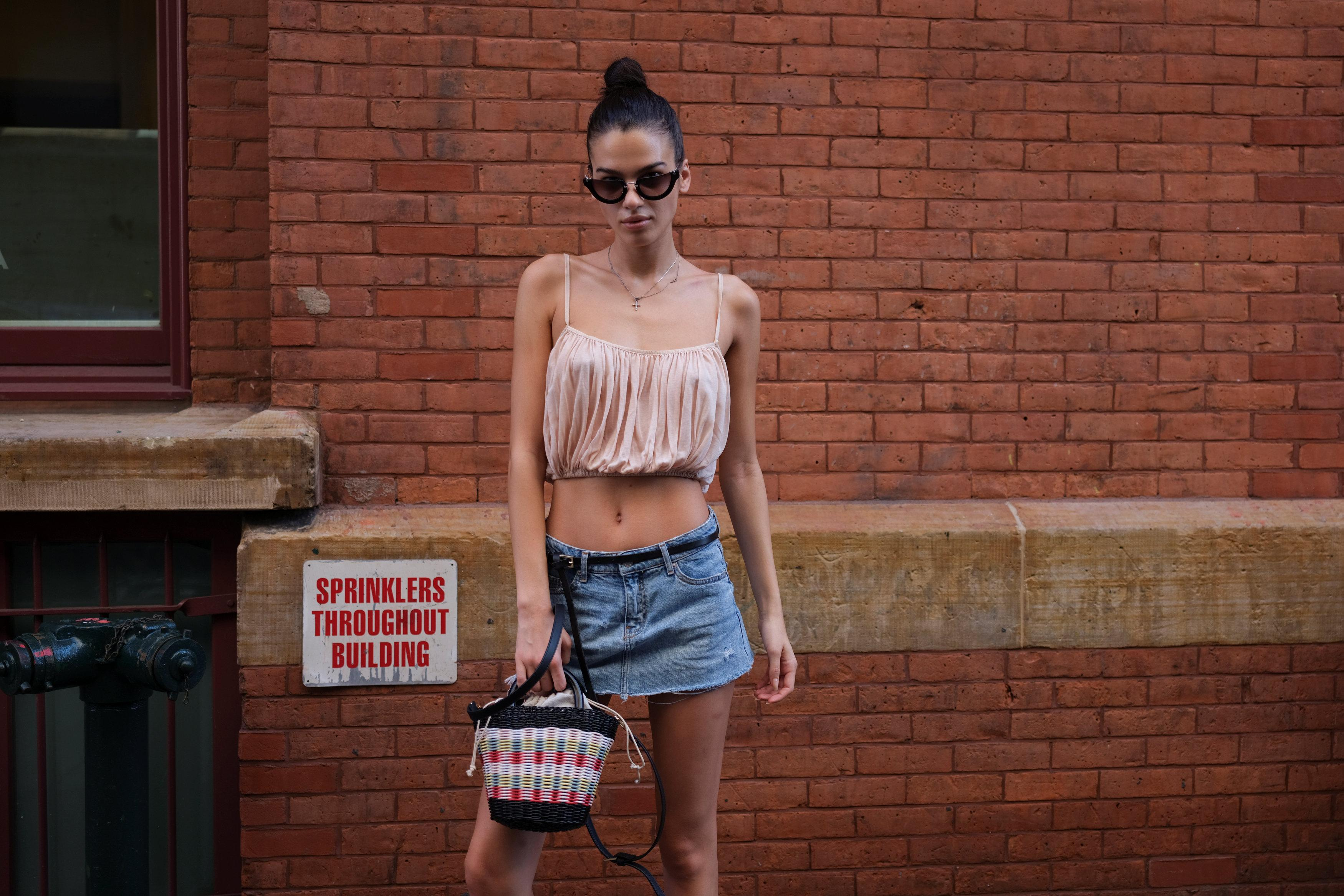 Elena Azzaro, 23, a model based in New York, poses for a picture in the Manhattan borough of New York, U.S., September 3, 2018.  Caitlin Ochs