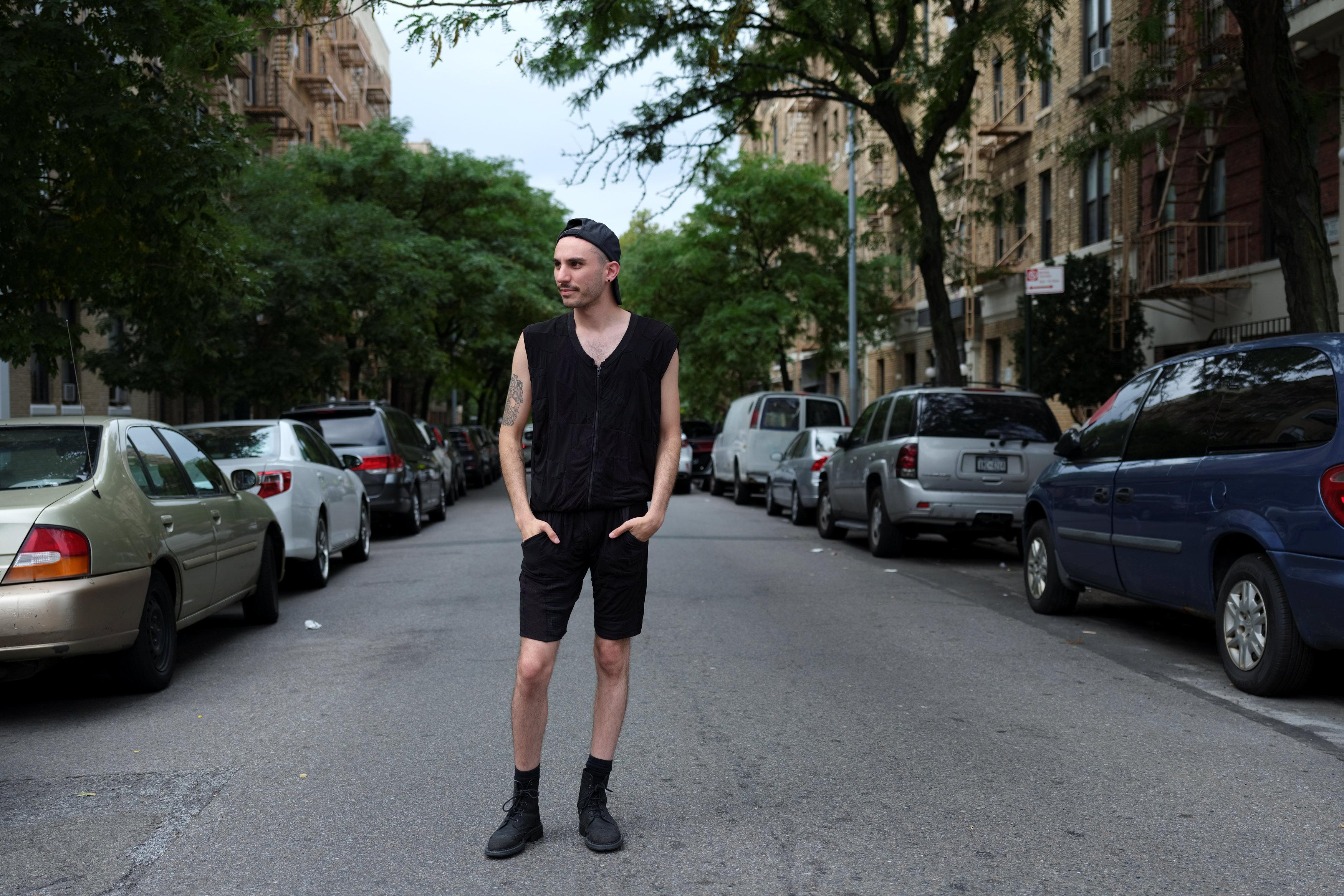 Daniel Silverstein, 29, designer and founder of Zero Waste Daniel, a unisex apparel store in Williamsburg, poses for a picture in the Brooklyn borough of New York, U.S., September 2, 2018.  Caitlin Ochs