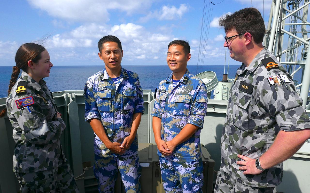 China engages in Australia's largest maritime drill for