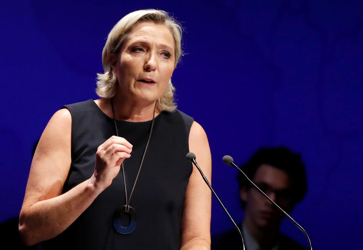 France's Le Pen urges show of nationalist force in European elections