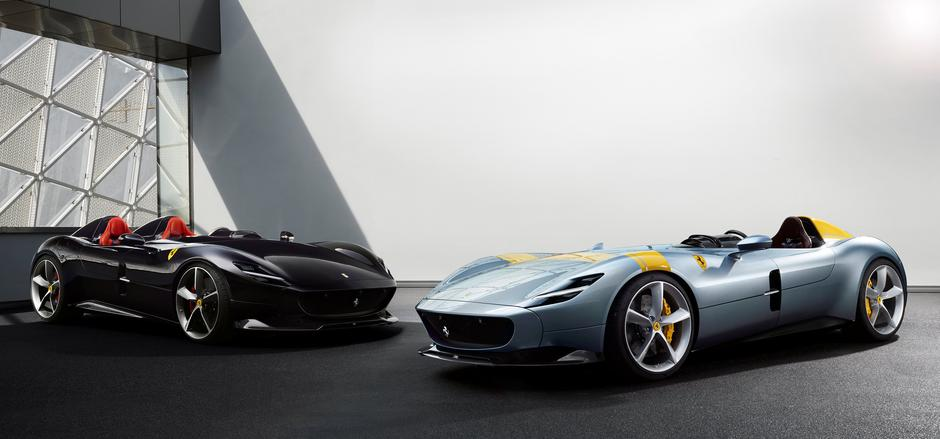 Ferrari S New Monza Sp1 And Sp2 Cars Are Seen In This Picture Released By Press Office During A Meeting Maranello Italy September 18 2018