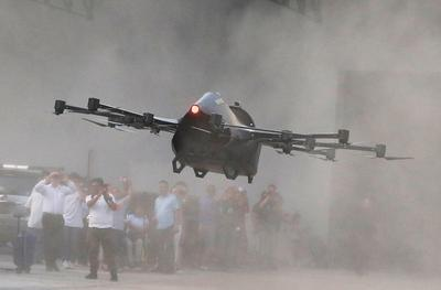 Inventor debuts flying car drone