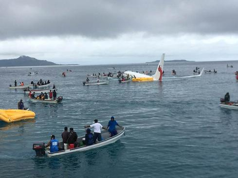 Passengers safe after flight crashes into sea in Micronesia