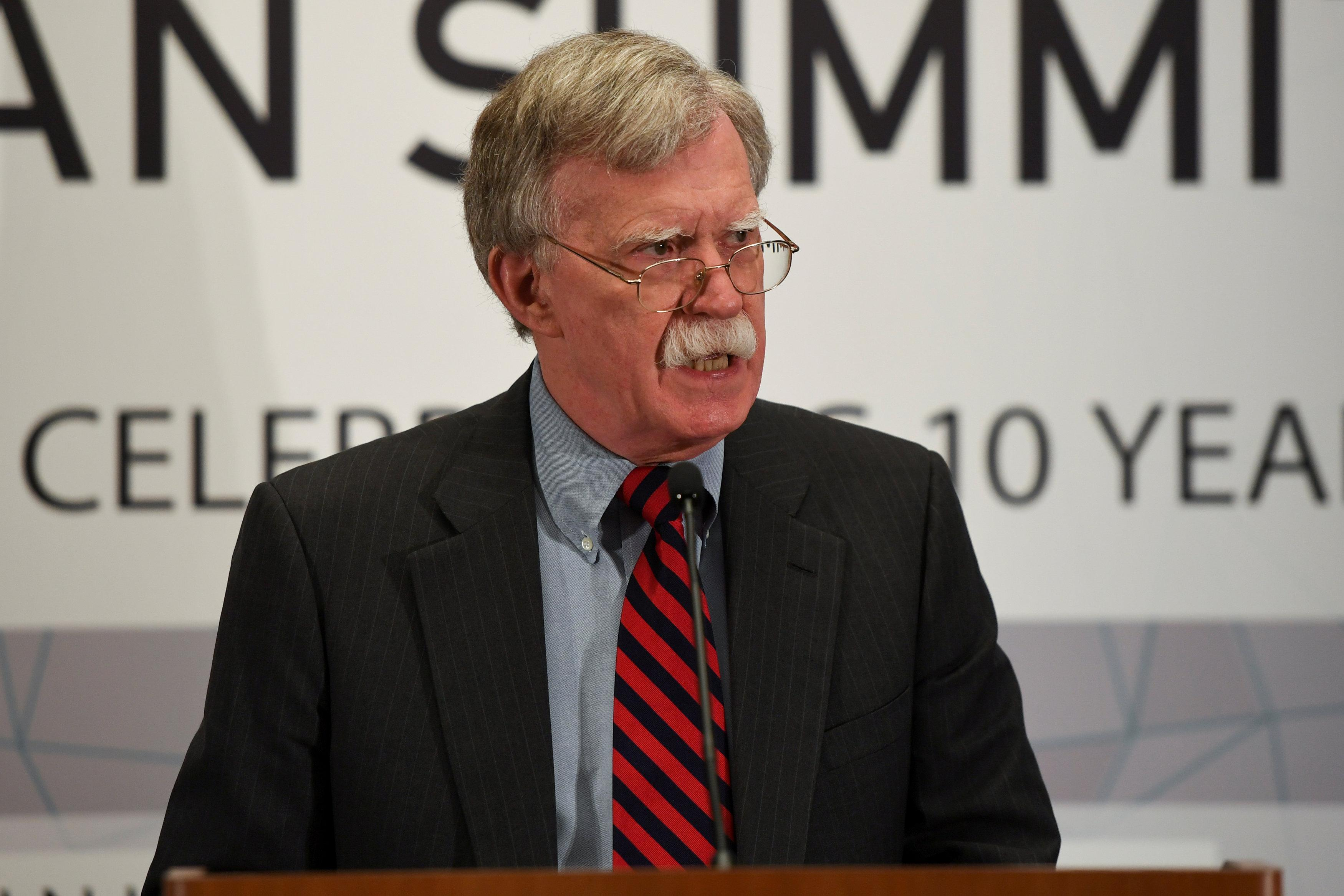 U.S. National Security Advisor John Bolton speaks during the United Against Nuclear Iran Summit on the sidelines of the United Nations General Assembly in New York City, U.S. September 25, 2018. Darren Ornitz