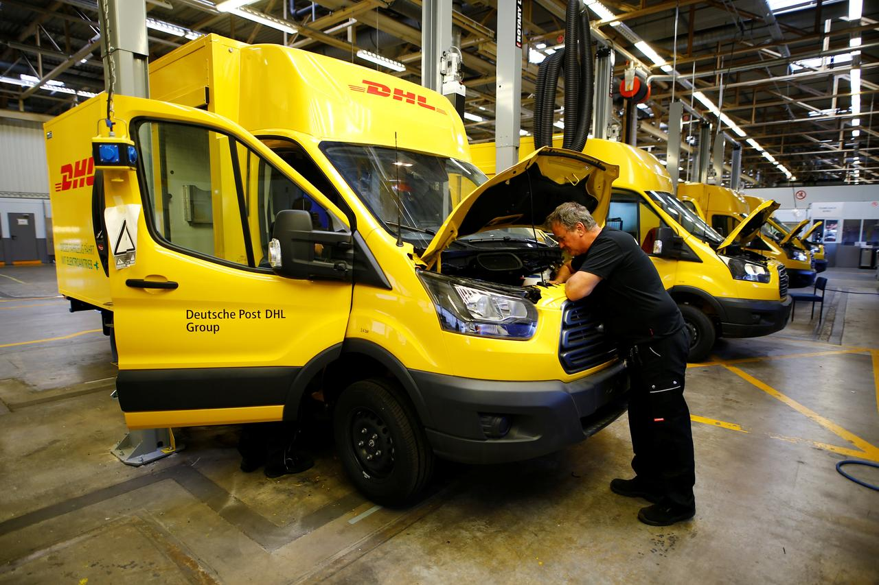 74178e4ca7 A worker of Ford Germany checks a Streetscooter WORK XL electric van based  on a Ford Transit at Ford s new manufacturing line in Cologne