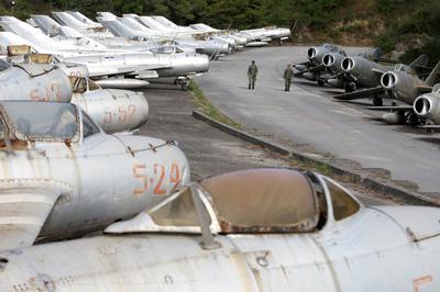 Albania's graveyard of Soviet-era MiGs