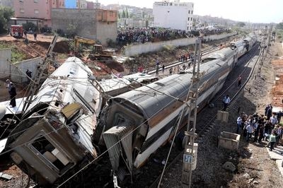 Deadly train derailment in Morocco