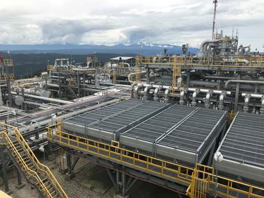 FILE PHOTO: The ExxonMobil Hides Gas Conditioning Plant process area is...
