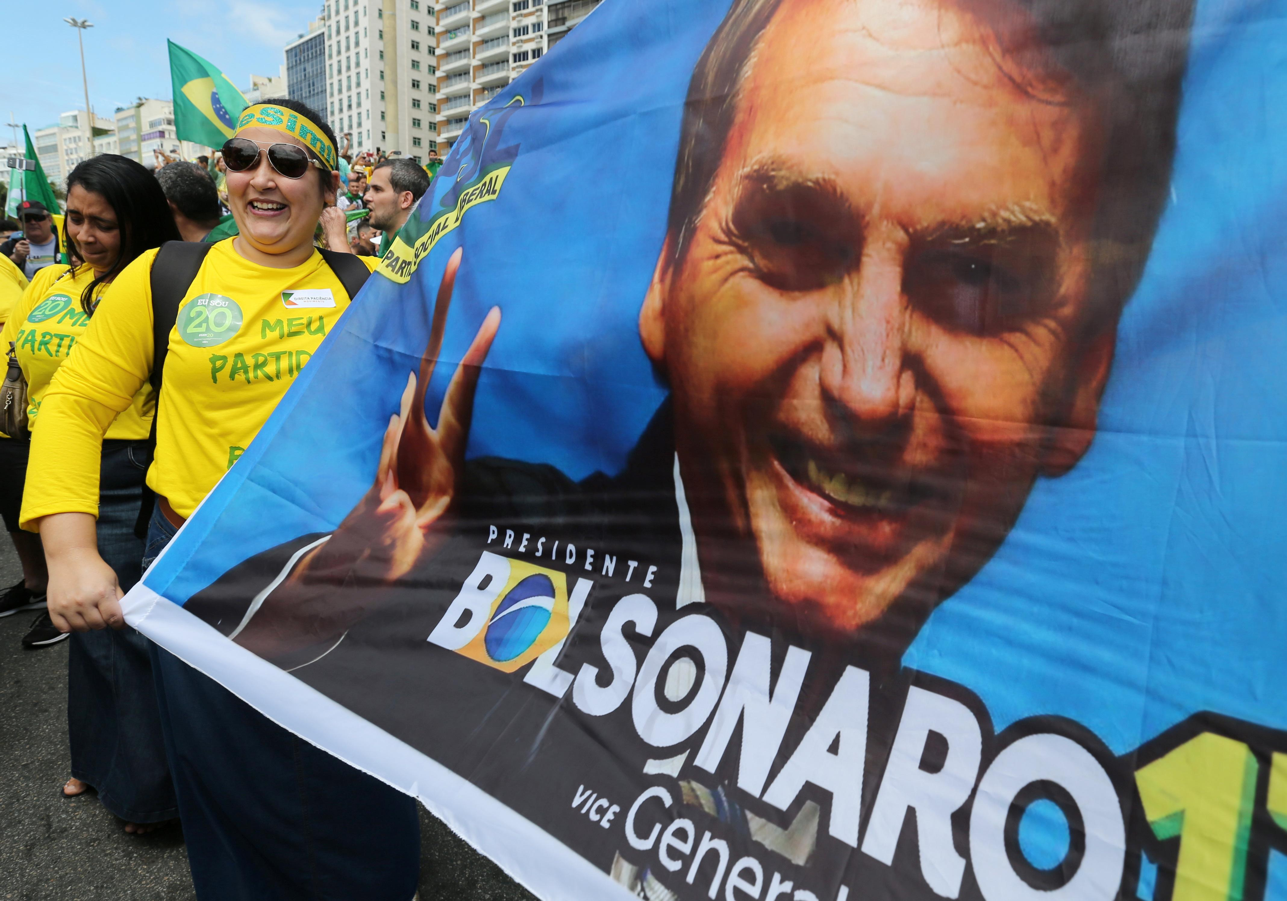 Brazil's Bolsonaro says he intends to use armed forces to fight violence