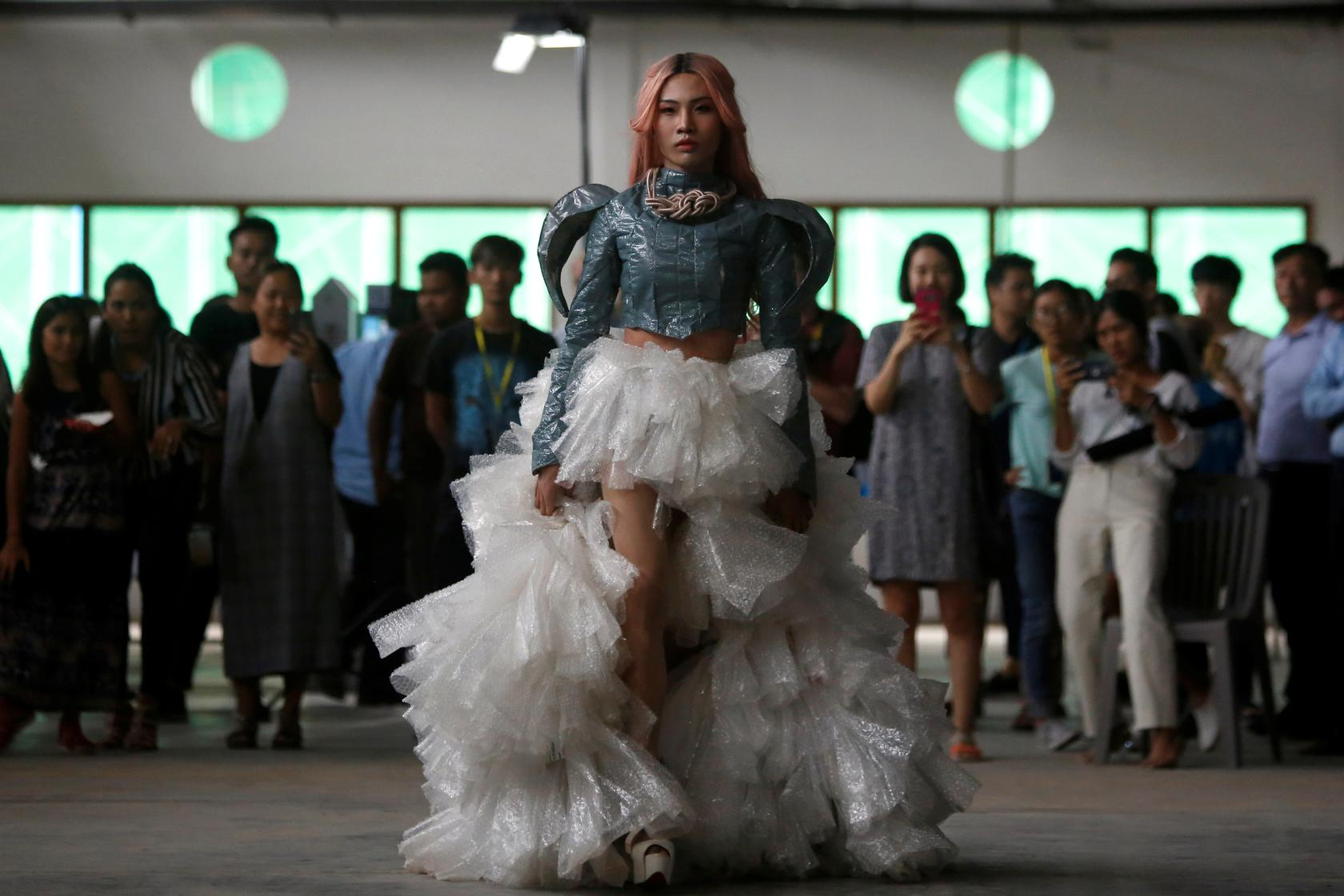 Plastic Fantastic Cambodian Lgbt Fashion Designers Find Beauty In Trash Reuters