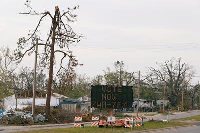 Voting in hurricane-ravaged Florida