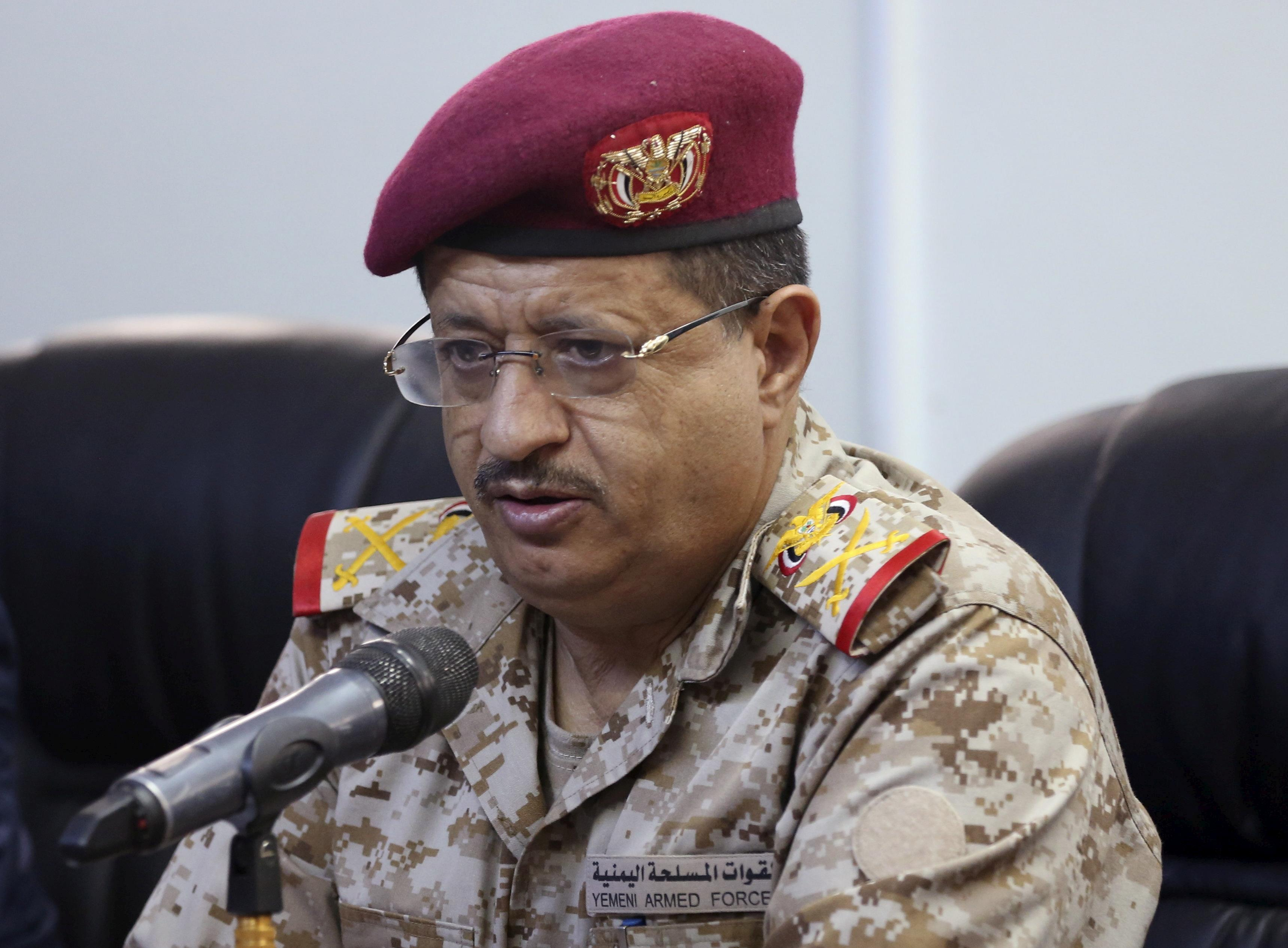 Image result for Mohammed al-Maqdishi, the defence minister of Yemen's internationally recognised government