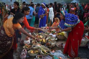 India celebrates the festival of Chhath