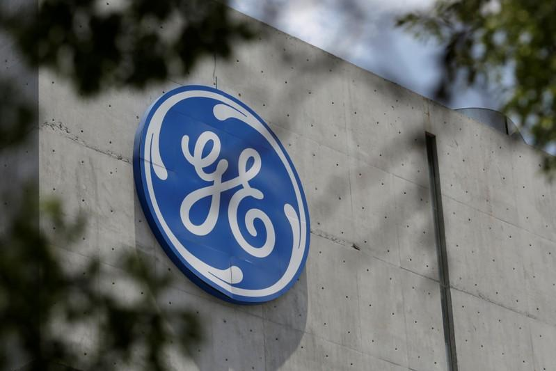 The logo of General Electric Co. is pictured at the Global Operations Center in San Pedro Garza Garcia, neighbouring Monterrey, Mexico, on May 12, 2017. Daniel Becerril