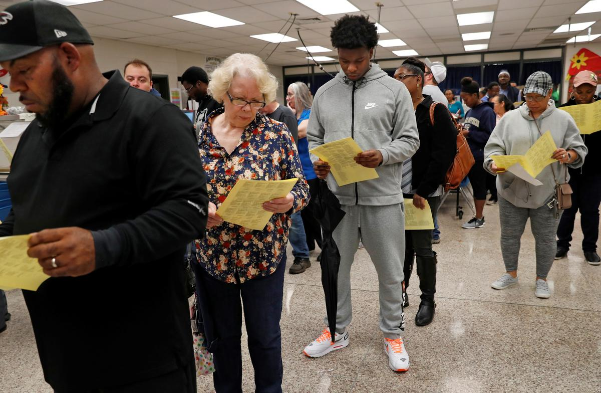 Georgia voters choosing _ again _ who will oversee elections