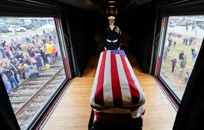 President George H.W. Bush's funeral train