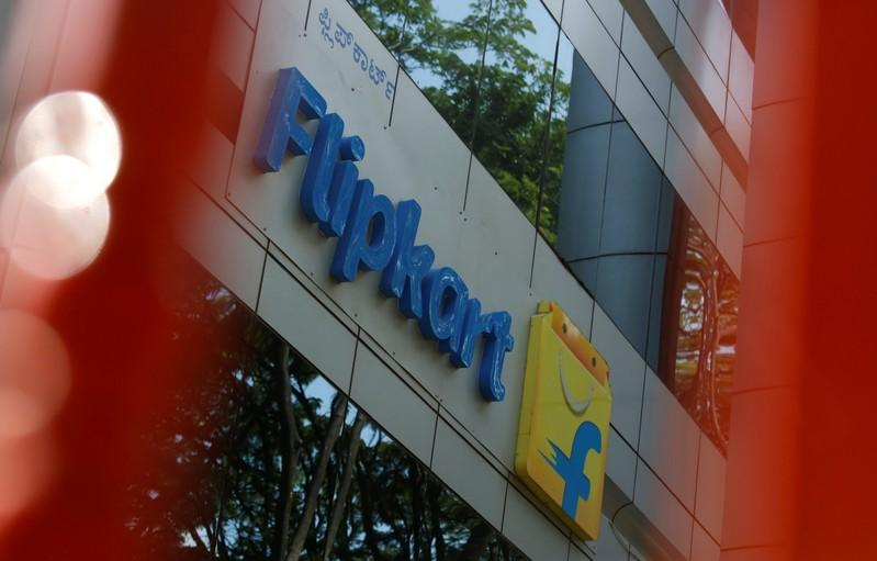 cabae5679a5 The logo of India s e-commerce firm Flipkart is seen on the company s  office in Bengaluru