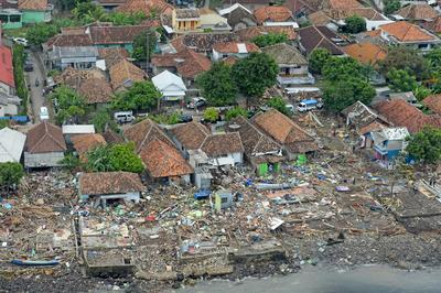 Indonesia's tsunami aftermath from above