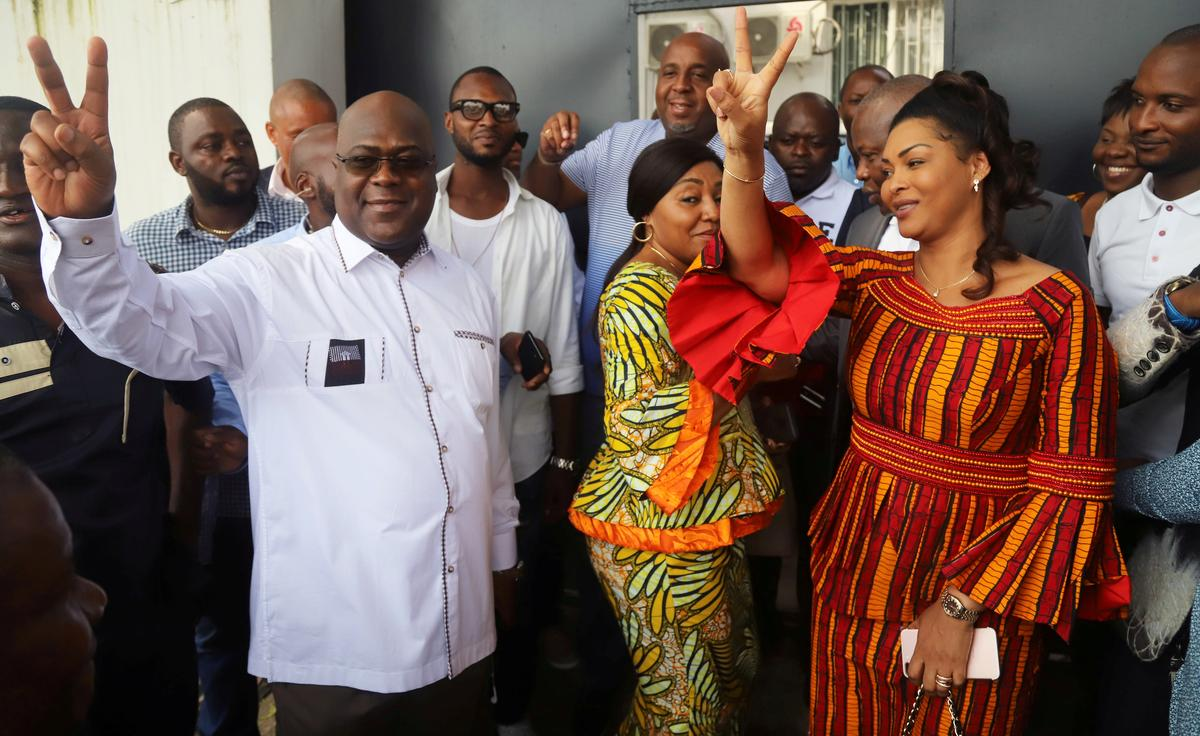 Image result for Congo opposition leader Tshisekedi clinches surprise win in presidential election